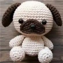 Amigurumi Perro Pug a Crochet