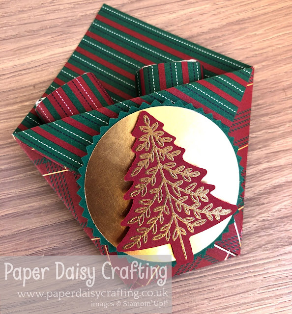 Pine tree punch Perfectly Plaid Stampin Up
