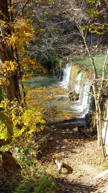 Dripping Springs Trail & Waterfall at Natural Falls State Park in Colcord, OK