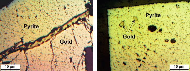 emas dalam sulfida pyrite