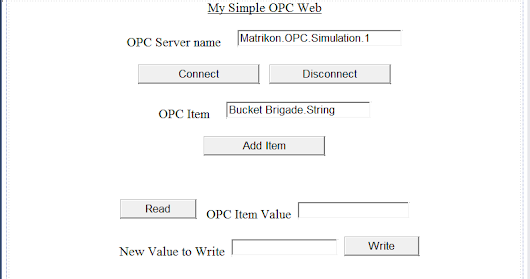 My Simple OPC Web