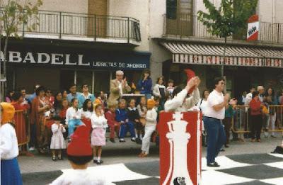 Festival de ajedrez en Sant Sadurní en 1990