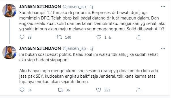 Jansen dalam akun Twitternya