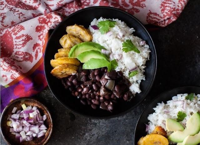 Cuban Black Beans and Rice #vegetarian #healthy