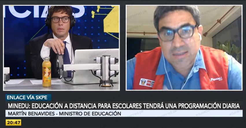 MINEDU: Todo sobre el inicio de año escolar 2020 en colegios públicos tras ampliación de estado de emergencia [ENTREVISTA RPP Martín Benavides]