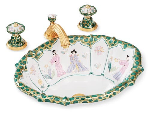 Aesthetic Oiseau Chinoiserie Sinks From Sherle Wagner