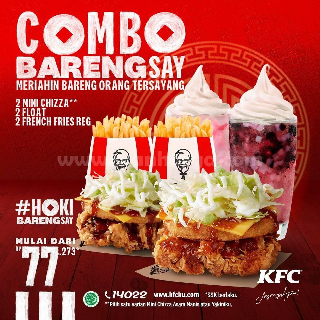 KFC COMBO BARENGSAY! Promo Imlek Hoki harga mulai Rp 77.273