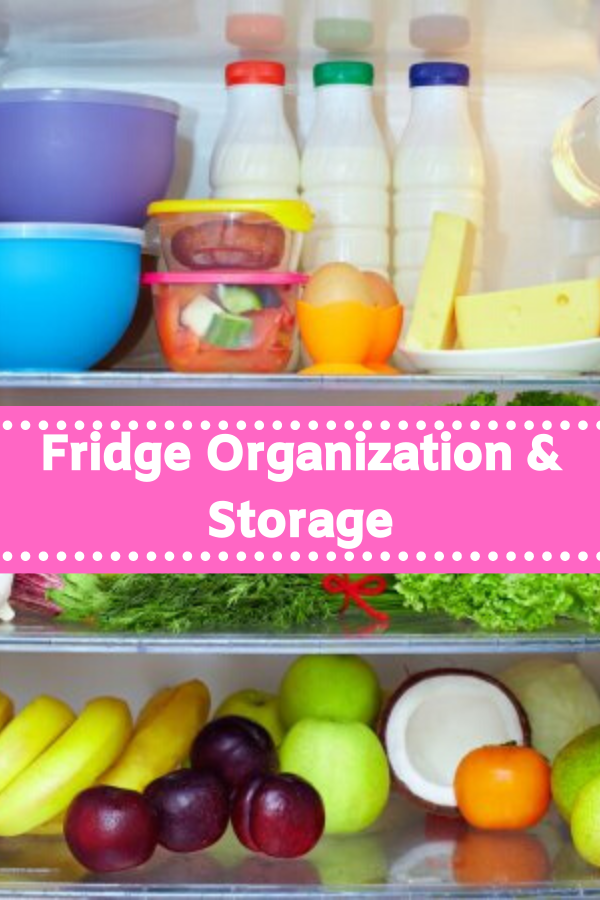 Fridge organization ideas  that include a refrigerator organization chart to help you pack your fridge accordingly.