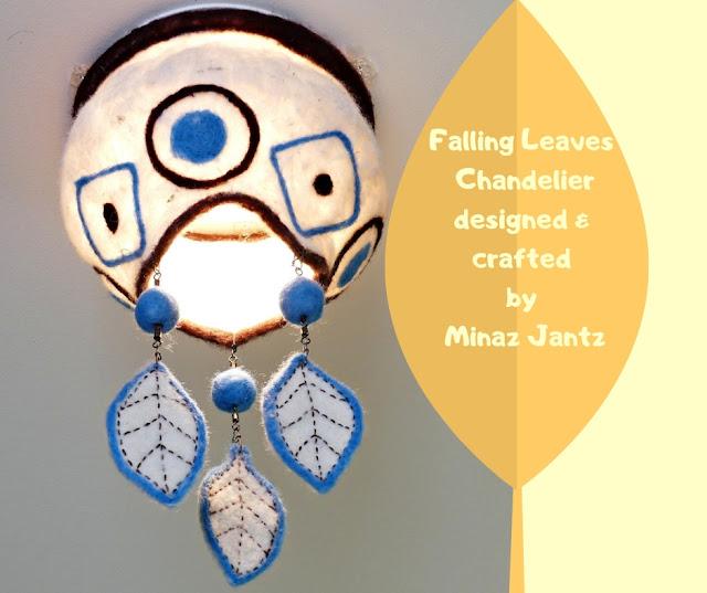 Falling Leaves Felted Chandelier by Minaz Jantz