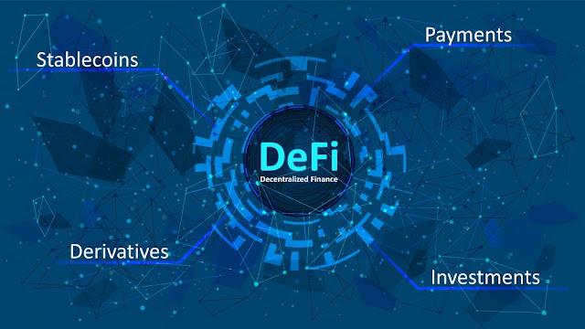 Gambar Ilustrasi Dari Decentralized Finance (DeFi)