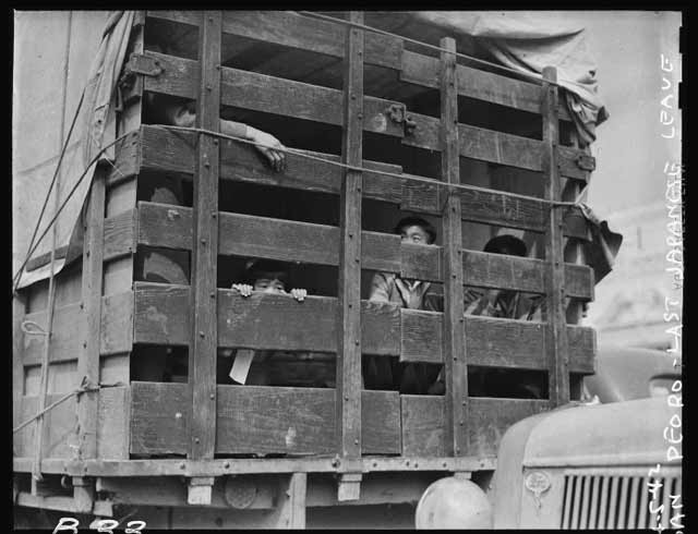 Internees in San Pedro, California, 5 April 1942 worldwartwo.filminspector.com