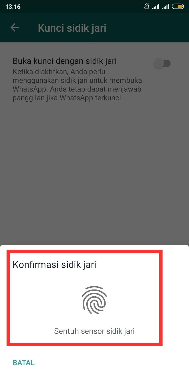 rekam sidik jari whatsapp