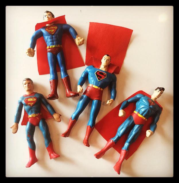 Rubber Bendy Superman figures