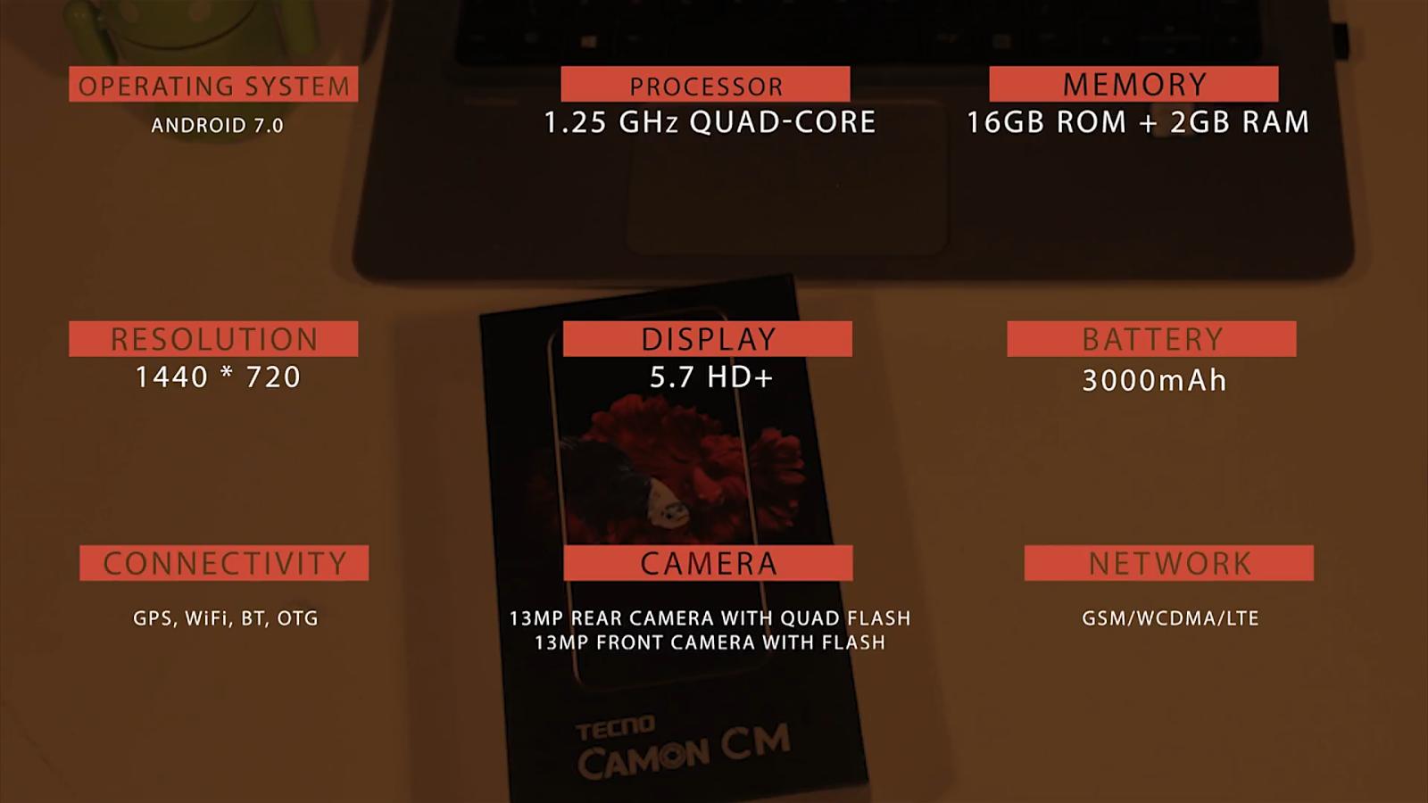 Tecno Camon CM Full specifications
