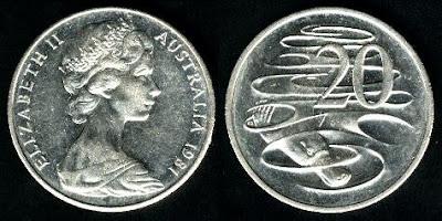 Australia  20 Cents (1966-1998) 1966 coins