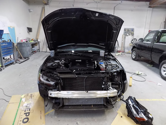 2016 Audi A4 with hidden damage during repairs at Almost Everything Auto Body.