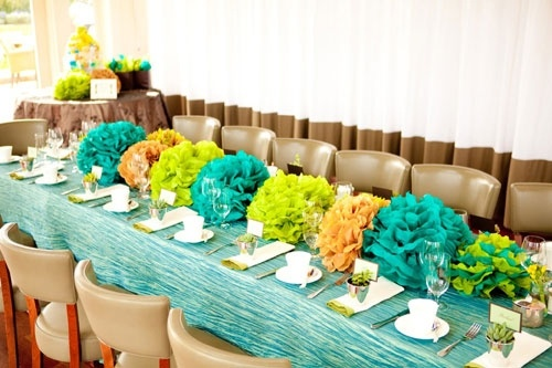 tissue paper flower centerpiece wedding