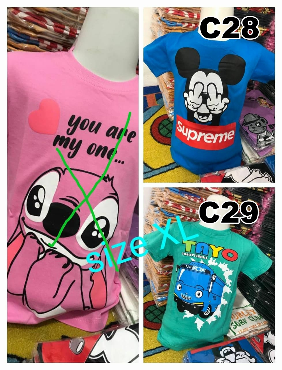 Kaos Distro Trend Anime Asli Ukuran XL Cotton Combed
