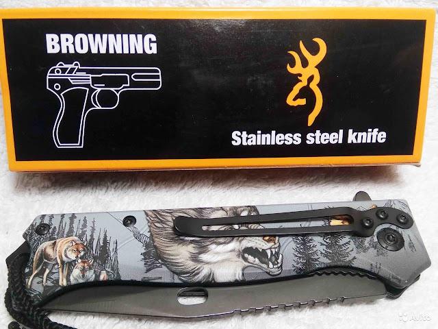 Briceag Browning FA47 cutit vanatoare lup wolf knife