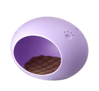 Candy Oval Egg Nest Shaped Pet House Waterproof Cat Dog House. - Purple