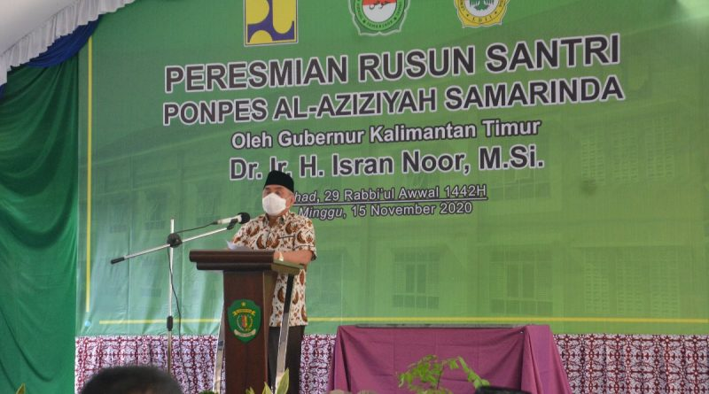 Gubernur Kaltim Dr H Isran Noor Meresmikan Gedung Rusun Santri Pondok Pesantren Al-Aziziyah