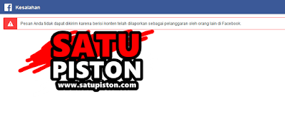 Waduh satupiston.com kena banned Facebook