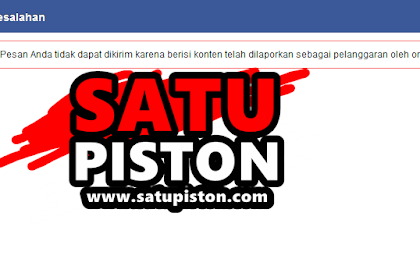 Waduh satupiston.com kena banned Facebook