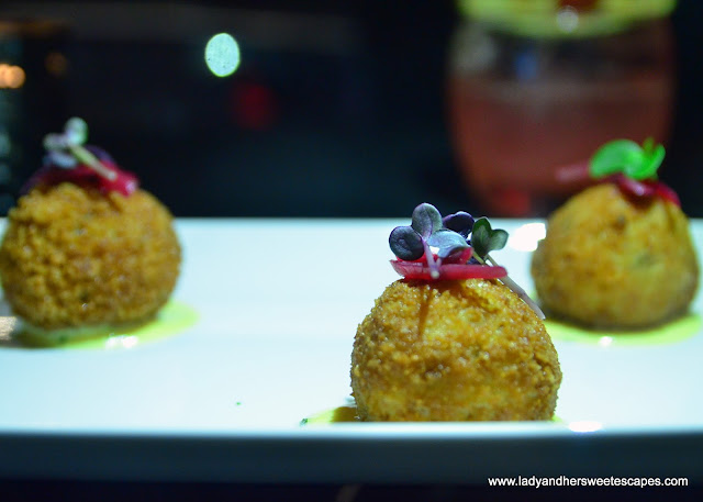 croquettes at Espana Lounge Bar Dubai
