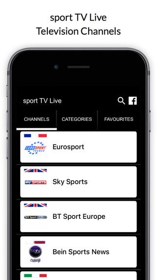 Sport TV Live App IOS iPhone, iPad & iPod Touch - New Kodi