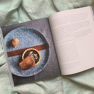 Create Beautiful Food at Home by Adrian Martin, picture of Chocolate and Hazelnut Tarts and second part of recipe
