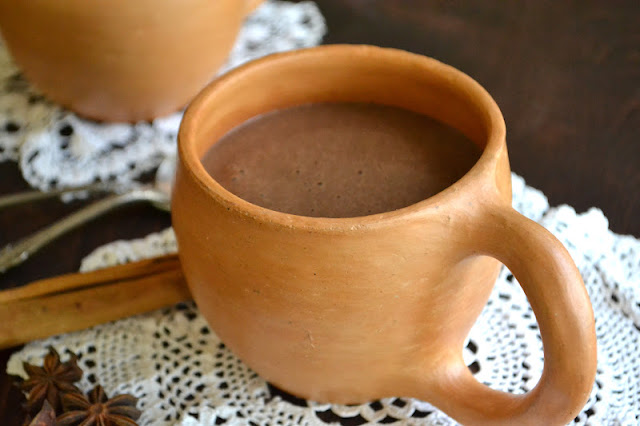 Thick rich Mexican Hot Chocolate Atole