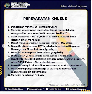 Lowongan Kerja Field Staff Kantor Pertanahan Aceh Besar Lulusan D1
