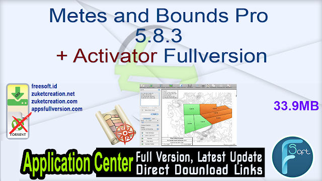 Metes and Bounds Pro 5.8.3 + Activator Fullversion