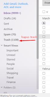 cara hapus email secara massal yahoo