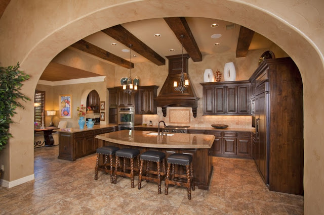 tuscan style kitchen cabinets
