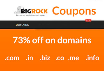 bigrock domain coupons, latest bigrock domain purchase offers, combo packs bigrock india domain discounts.