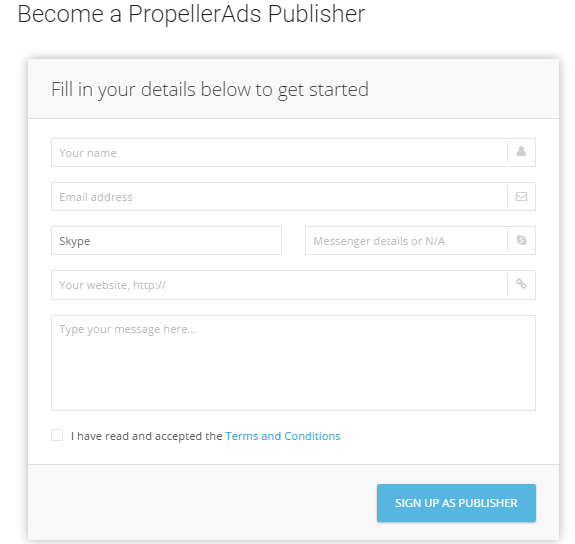 Cara Daftar Menjadi Publisher Propeller Ads 2016