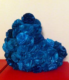 petrol mavisi kalp ayna dekoratif dekorasyon