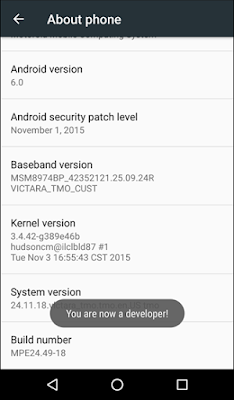 Enabling USB Debugging on an Android Device