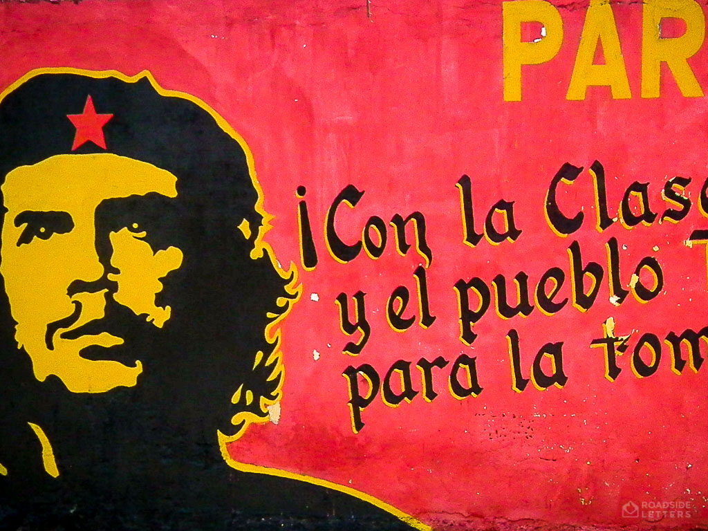 Mural with Che Guevara on the street of Carúpano, Venezuela