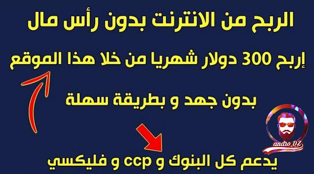 لربح من الانترنت في الجزائر