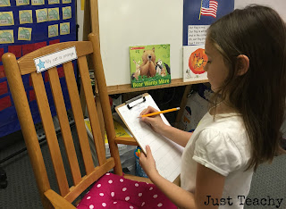 Write Around the Room: Simple Sentences, www.justteachy.blogspot.com