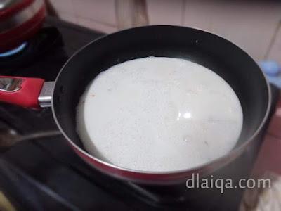 masak santan dan bumbu halus