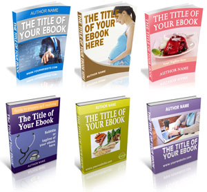 Ebook cover template with Photoshop action script