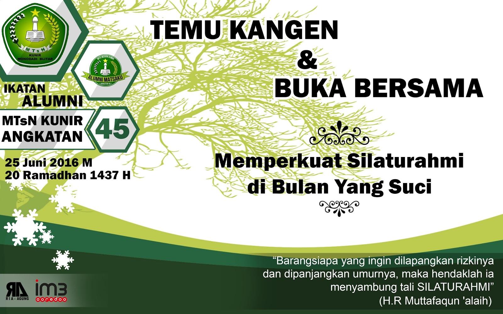 Banner Buka Bersama Alumni Mtsn Kunir Angkatan