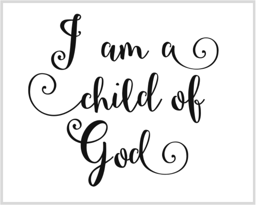 It's just a photo of Enterprising I Am a Child of God Printable