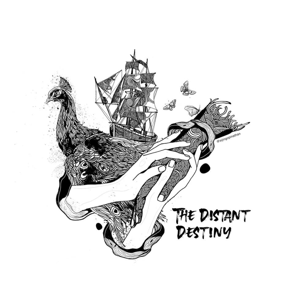 the distant destiny - doodle art