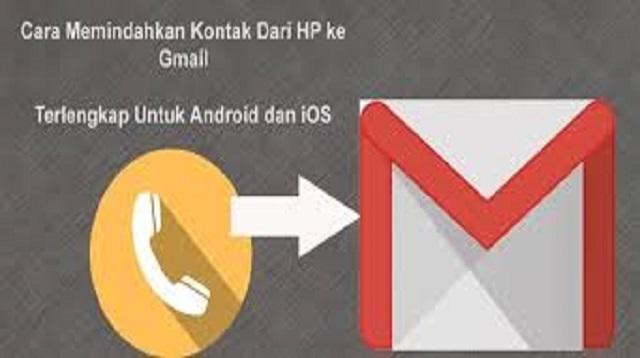 Cara Memindah Kontak Ke Email di Hp Android