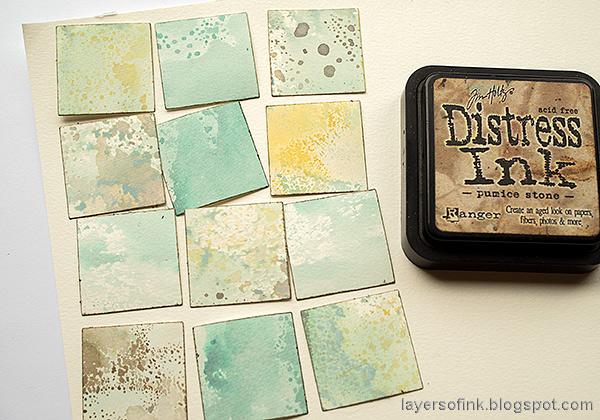 Layers of ink - Distress Ink Blocks Card Tutorial by Anna-Karin Evaldsson.