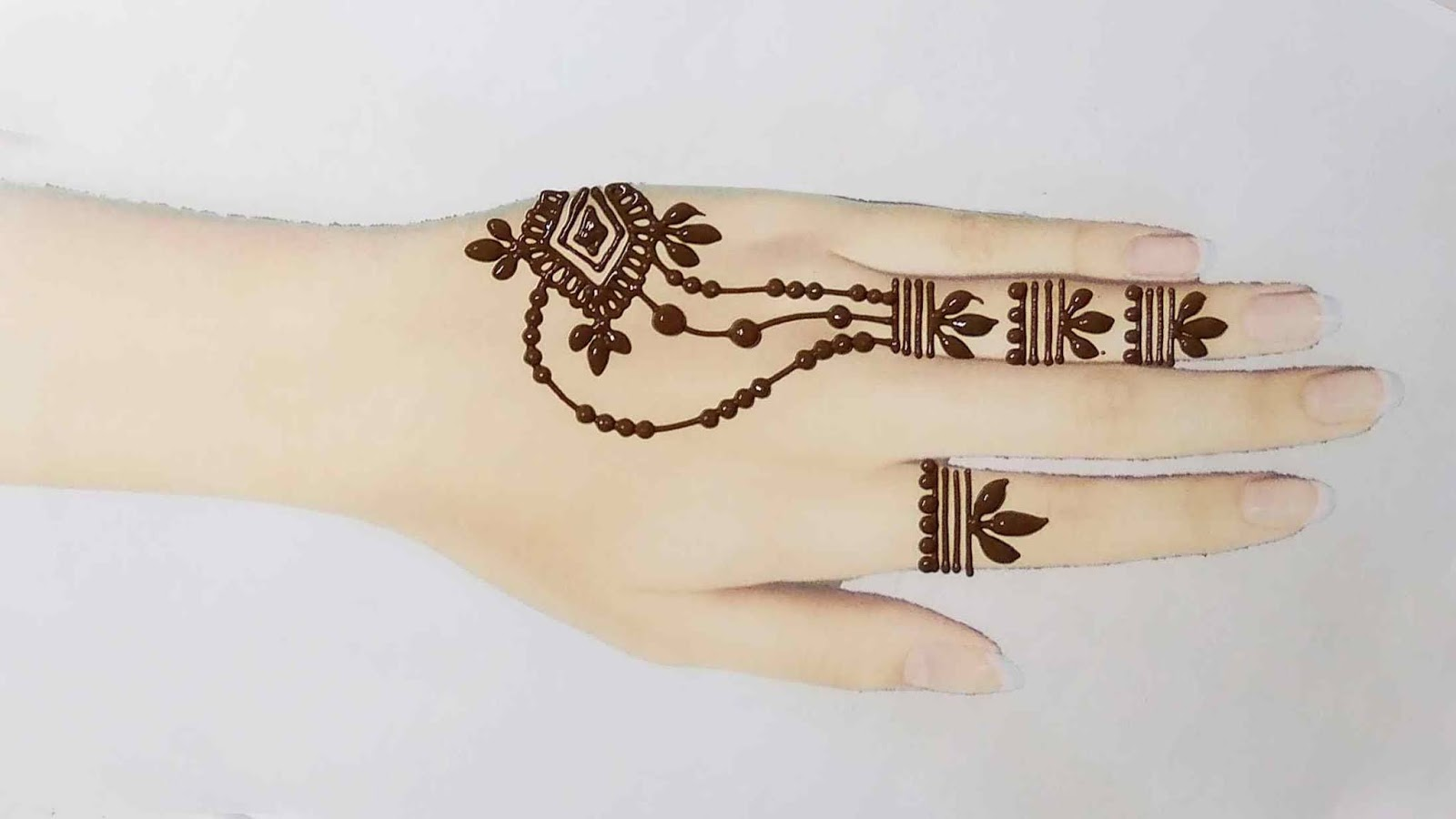 easy henna tattoo